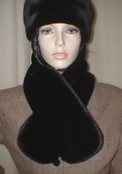 Chocolate Moleskin Faux Fur Scarves, Headbands,  Accessories