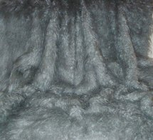 Mongolian Grey Faux Fur Throws & Bed Runners