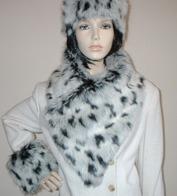 Vintage Faux Fur Asymmetric Scarves