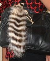 Faux Fur Tails Handbag Key Charms