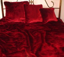 Ruby Red Faux Fur Throws