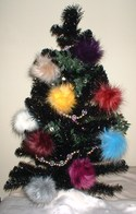 Faux Fur Christmas Baubles and Stockings