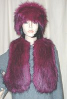 Magenta Faux Fur Headbands, Cuffs, Scarves, Accessories