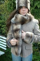 Faux Fur Traditional Scarves