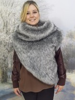 Faux Fur Huntress Cowl
