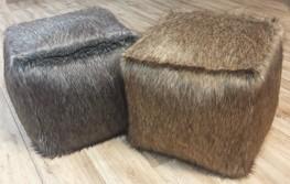 Faux Fur Cubes & Poufs