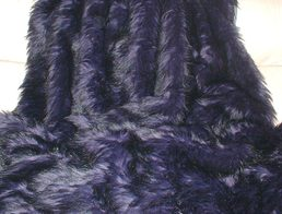 Purple Rain Faux Fur Throws and Bed Runners