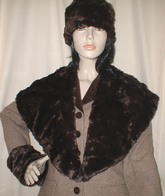 Chocolate Astra Faux Fur Headbands, Scarves, Collar, Accessories