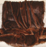 Red Fox Faux Fur Throws and Bed Runners