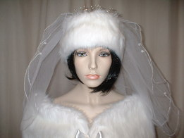 Faux Fur Wedding Headbands