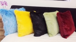 Limited Edition Olympics Faux Fur Cushion Set