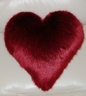Ruby Red Faux Fur Cushions