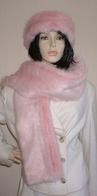 Raspberry Cream Mink Faux Fur Headbands, Scarves and Accessories