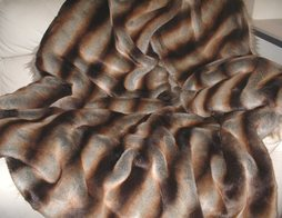 Golden Brown Chinchilla Faux Fur Throws