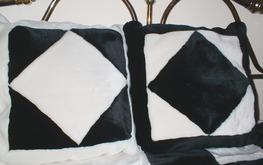 Black & White Patchwork Cushions