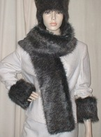 Wolfhound Faux Fur Hats, Scarves and Accessories