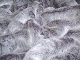 Silver Lavender Fox Faux Fur Throws and Bed Runners
