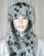 Winter Leopard Faux Fur Hats, Headbands, Scarves, Accessories
