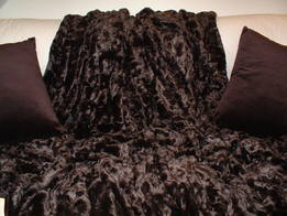 Chocolate Astra Faux Fur Throws