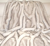 Polar Fox Faux Fur Throws and Bed Runners