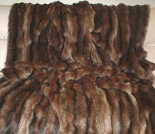 Russian Sable Faux Fur Throws and Bed Runners