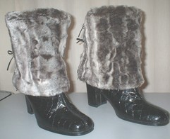 Vintage Silver Astra Faux Fur Hats, Scarves and Accessories