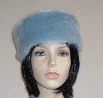 Faux Fur Pill Box Hats