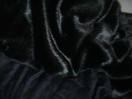 Black Mink Faux Fur Throws & Bed Runners