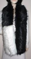 Faux Fur Two Tone Scarves