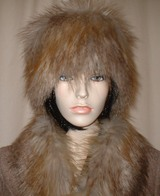 Coyote Faux Fur Scarves,Hats and Accessories