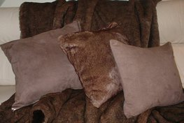Chocolate Faux Suede Cushions