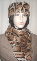Jaguar Faux Fur Hats, Scarves, Cuffs, Accessories