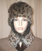 Ocelot Faux Fur Hats, Scarves, Headbands, Accessories