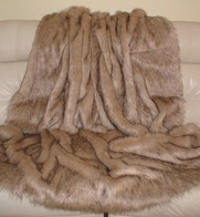 Fawn Musquash Faux Fur Throws & Bed Runners