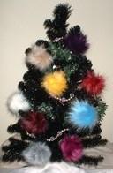 Faux Fur Christmas Baubles