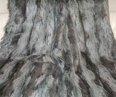 Grey Wolf Faux Fur Throws and Bed Runners