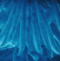 Azure Blue Faux Fur Throws and Bed Runners