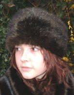 Mahogany Mink Faux Fur Hats, headbands, Scarves Accessories