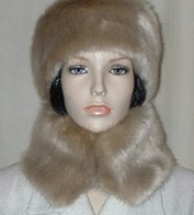 Honey Blonde Faux Fur Hats, Headbands and Accessories