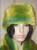 Pistachio Flash Faux Fur Headbands, Scarves