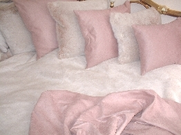 Pink Champagne Faux Fur Throws