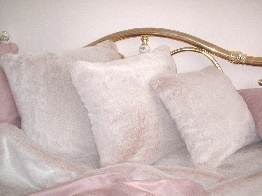 Pink Champagne Faux Fur Cushions