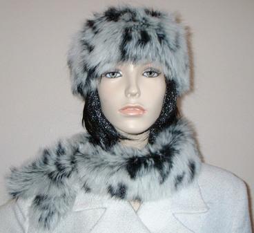 Winter Leopard Faux Fur Slim Collar/Headband