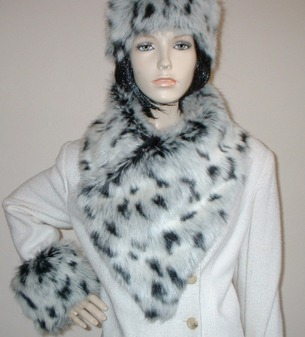 Winter Leopard Faux Fur Vintage Asymmetric Scarf
