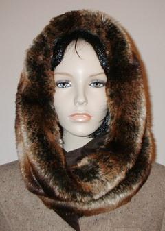 Madagascar Faux Fur Cowl/Neck Warmer