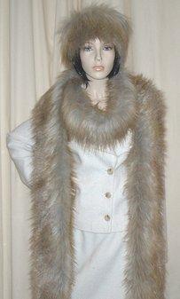 Coyote Faux Fur Super Long Scarf