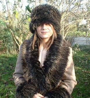 Kodiac Bear Faux Fur Scarf