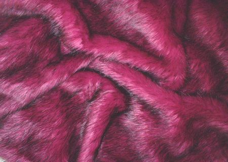 Magenta Faux Fur Swatch