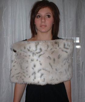 Snow Lynx Faux Fur Flapper