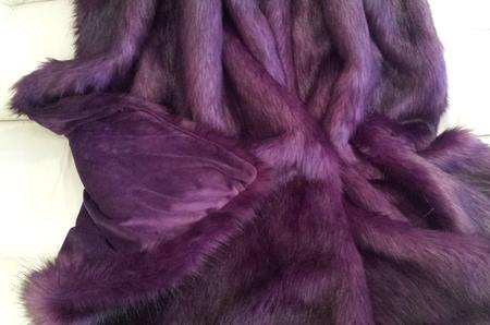 Royal Purple Faux Fur Throw